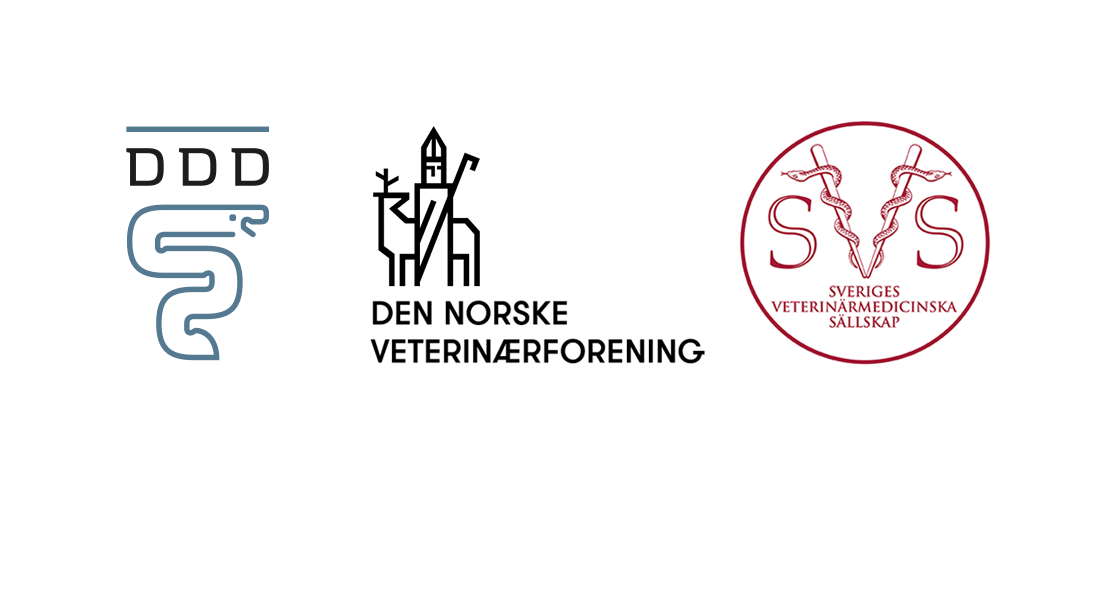 Logos for the the Danish, Norwegian and Swedish Veterinary Associations